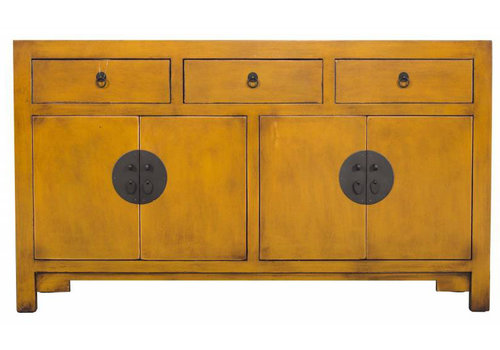 Fine Asianliving Chinees Dressoir Middel Geel