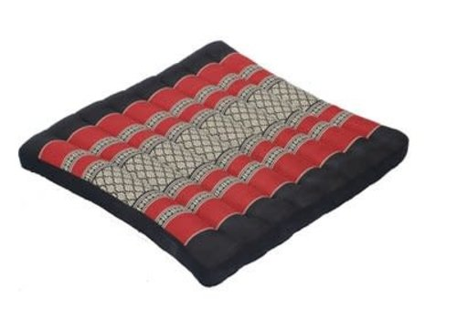 Fine Asianliving Fine Asianliving Thai Cushion Meditation Yoga Sitting Pillow Mat Red 52x52cm Kapok