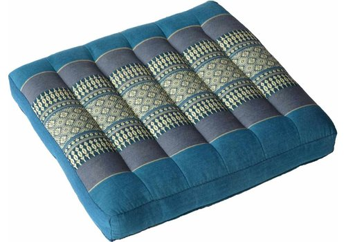 Fine Asianliving Fine Asianliving Thai Meditation Cushion and Sitting Cushion Blue  52x52cm