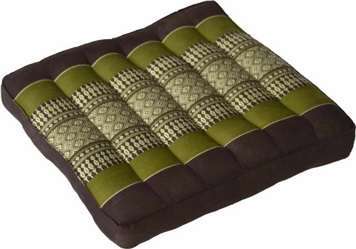 Fine Asianliving Thai Laptop Cushion and Sitting Cushion Small Green