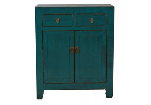Fine Asianliving Chinese small cupboard Teal  - Dongbei, China