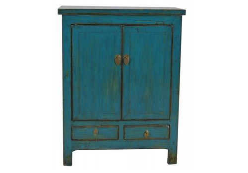 Fine Asianliving Chinese Cabinet Vintage Teal - Shanxi, China