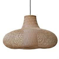 Handgevlochten bamboe lamp