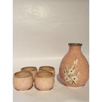 Japanse Soshun Sake Set Matte Roze