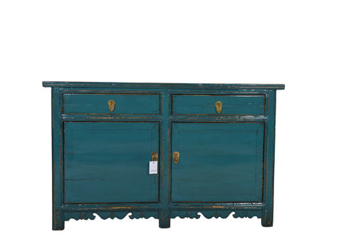 Fine Asianliving Fine Asianliving Antique Chinese Sideboard Details Teal  - Gansu, China