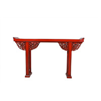 Chinese Sidetable Details Red