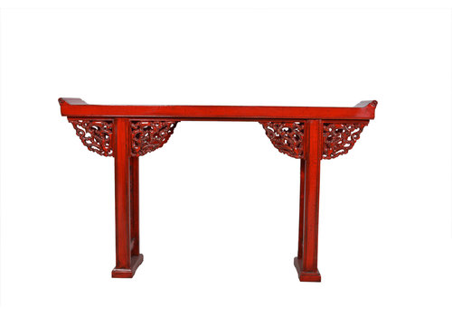 Fine Asianliving Chinese Console Table Details Red