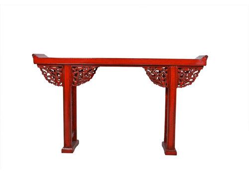 Fine Asianliving Consolle Cinese Dettagli Rosso