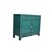 Fine Asianliving Small Antique Chinese Sideboard Teal  - Shandong, China