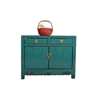 Small Antique Chinese Sideboard Teal - Shandong, China