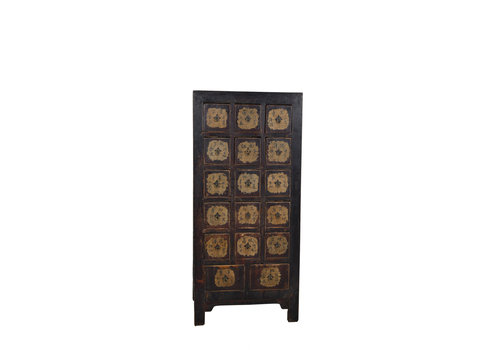Fine Asianliving Antique chinois Dresser Noir - Shandong, Chine