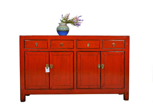 Fine Asianliving Fine Asianliving Antique Chinese Sideboard Red  - Dongbei, China