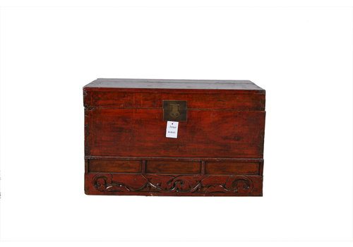 Fine Asianliving Antieke Kist Met Details  - Shandong, China