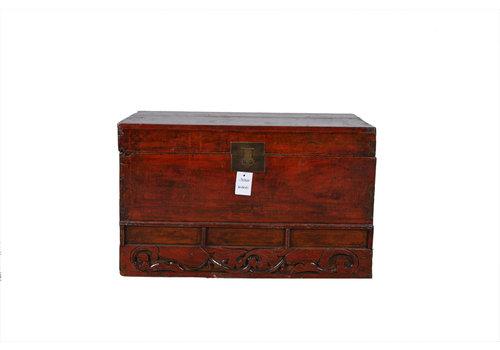 Fine Asianliving Caja Cofre de Almacenamiento Antiguo con Detalles - Shandong Chino