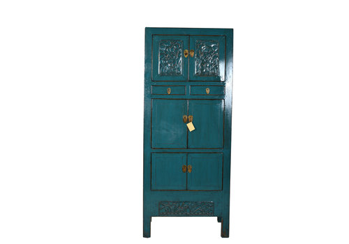 Fine Asianliving Fine Asianliving Antiek Teal Chinese Kast Details  - Shandong, China