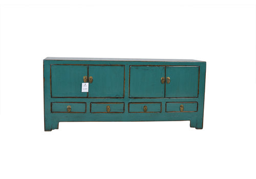 Fine Asianliving Fine Asianliving Small Antique Chinese  Cabinet Teal - Tianjin, China