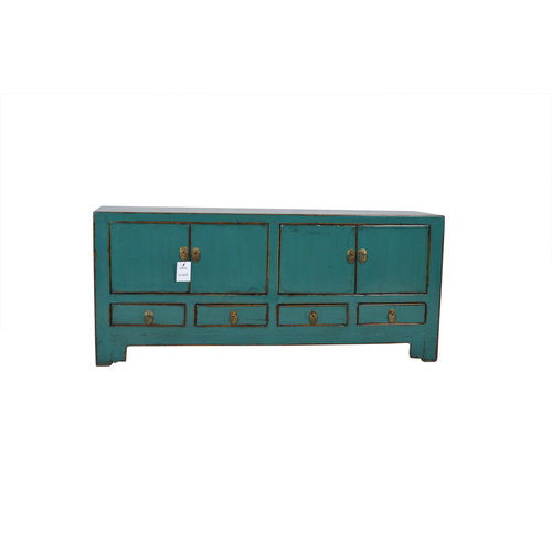 Fine Asianliving Small Antique Chinese  Cabinet Teal - Tianjin, China