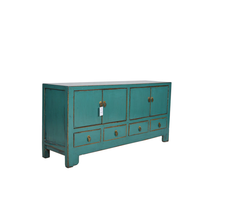 Fine Asianliving Antique Chinese  Cabinet Teal L - Tianjin, China