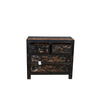 Fine Asianliving Antique Chinese Dresser Black  - Gansu, China