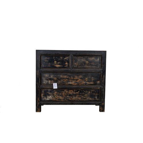 Fine Asianliving Antique Chinese Dresser Black  - Gansu, China