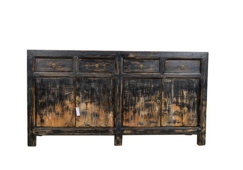 Fine Asianliving Fine Asianliving Antieke Chinese Dressoir Zwart Licht  - Gansu, China