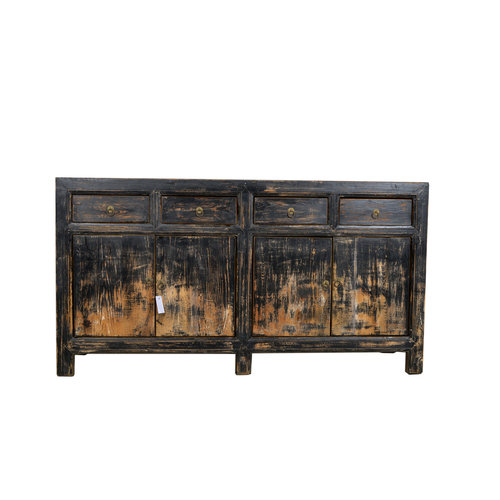 Fine Asianliving Antique Chinese Sideboard Black Light  - Gansu, China