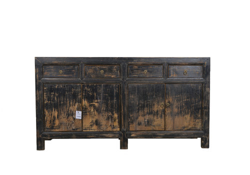 Fine Asianliving Fine Asianliving Antieke Chinese Dressoir Zwart Donker - Gansu, China