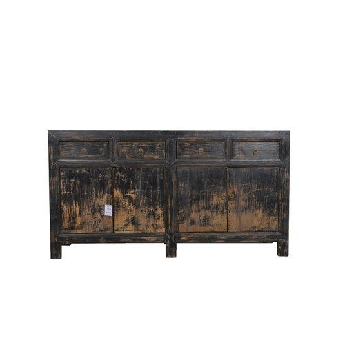 Fine Asianliving Antique Chinese Sideboard Black Dark - Gansu, China