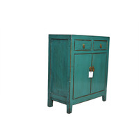 Small Antique Chinese Cupboard Teal - Dongbei, China