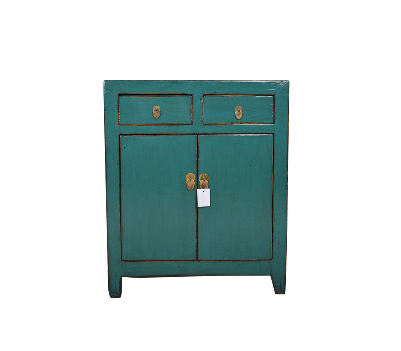 Fine Asianliving Kleine Antieke Chinese Kast Teal  - Dongbei, China