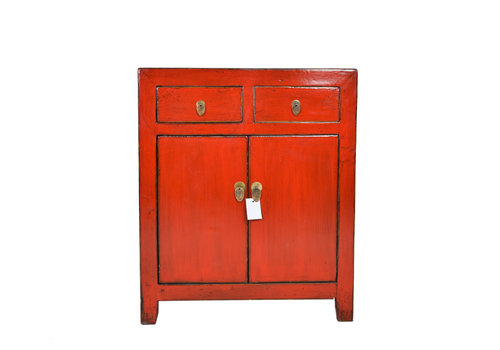 Fine Asianliving Fine Asianliving Kleine Antieke Chinese Kast Rood - Dongbei, China