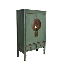 Fine Asianliving Antique Mint Chinese Bridal Cabinet  - Zhejiang, China