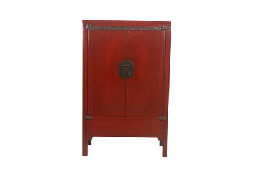 Fine Asianliving Fine Asianliving Antiek Chinese Bruidskast Rood Details - China