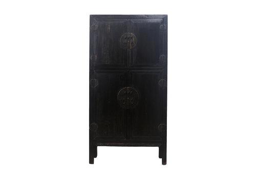 Fine Asianliving Armadio Nuziale Cinese Antico Nero L98xP47xA206cm