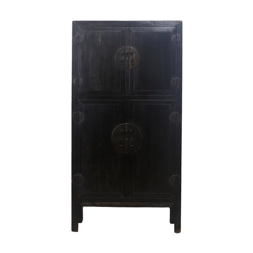 Fine Asianliving Antique Chinese Bridal Cabinet Black - Zhejiang