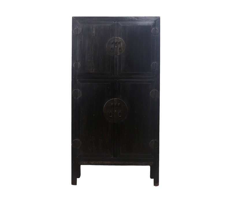 Armario de Boda Chino Antiguo Negro Anch.98 x Prof.47 x Alt.206 cm