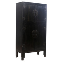 Antique Chinese Wedding Cabinet Black W98xD47xH206cm
