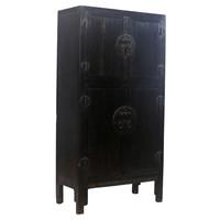 Armadio Nuziale Cinese Antico Nero L98xP47xA206cm