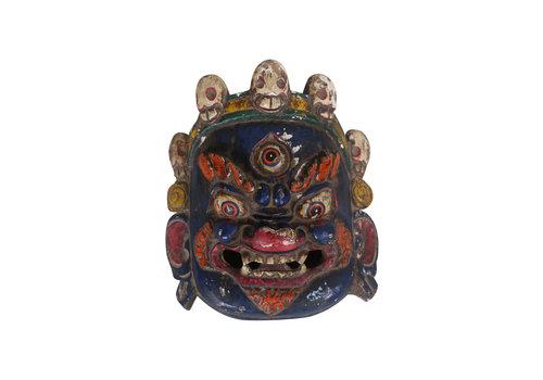 Fine Asianliving Fine Asianliving Antiek Tibetaans Masker Blauw