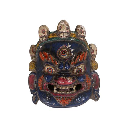 Fine Asianliving Antique Tibetan Mask Blue