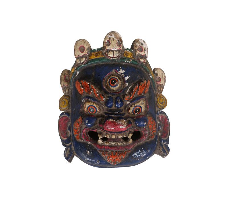 Fine Asianliving Antiek Chinese Masker Blauw - China