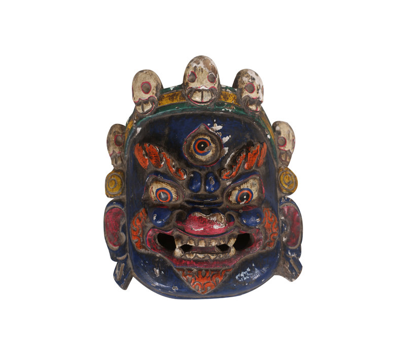 Fine Asianliving Antique Tibetan Mask Blue