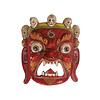 Fine Asianliving Antiek Tibetaans Masker Rood