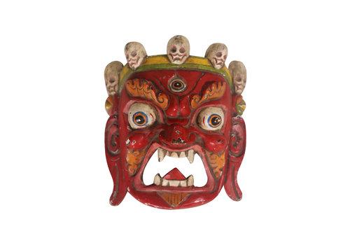 Fine Asianliving Fine Asianliving Antiek Tibetaans Masker Rood