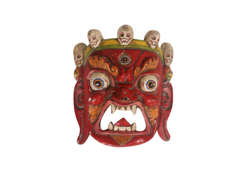 Fine Asianliving Fine Asianliving Antique Tibetan Mask Red