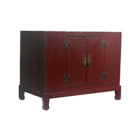 Fine Asianliving Kleine Antieke Chinese Kast Donker Rood  - Tianjin, China