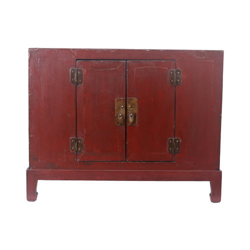 Fine Asianliving Small Antique Chinese Cupboard Dark Red - Tianjin, China