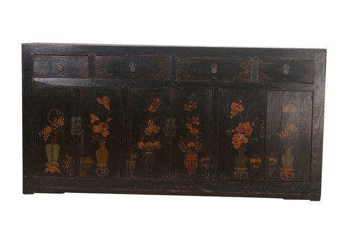 Fine Asianliving Credenza Cinese Antica Vaso Nera (1900-1920) - Zhejiang, Cina