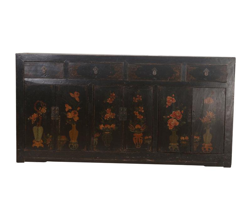 Fine Asianliving Antieke Chinees Dressoir Zwart Vaas (1900-1920) - Zhejiang, China