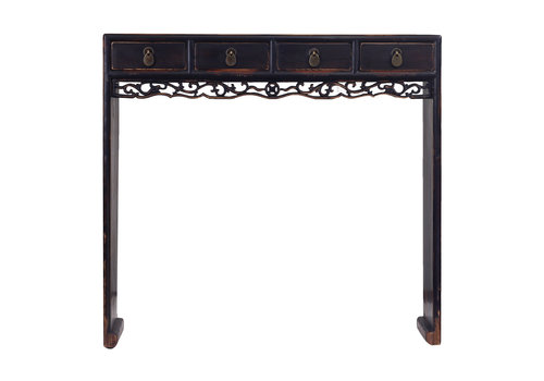 Fine Asianliving Fine Asianliving Antieke Klein Chinees Sidetable Details Zwart - Zhejiang, China